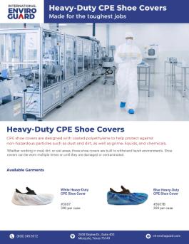 Heavy Duty CPE Shoe Covers