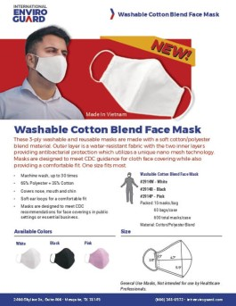 Washable Cotton Blend Face Mask