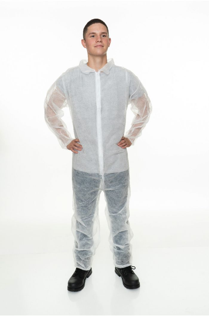 Polypropylene Coverall, Elastic Wrist & Ankle