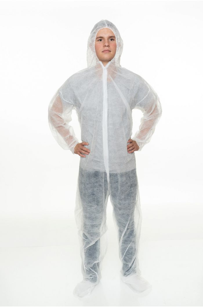 Polypropylene Coverall with Hood and Boot