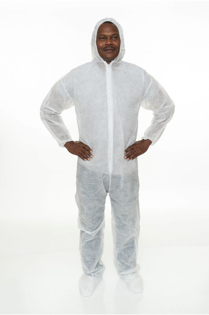 Heavweight Polypropylene Coverall with Hood and Boot