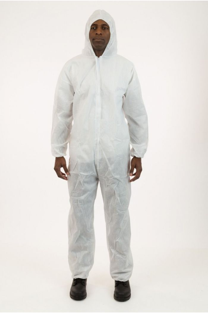 Lightweight SMS Coverall with Attached Hood, Elastic Wrist & Ankle