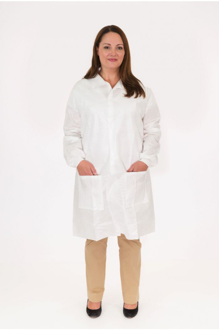 Body Filter 95+®, Lab Coat, Shirt Collar, Two Hip Pockets, Knit Wrist