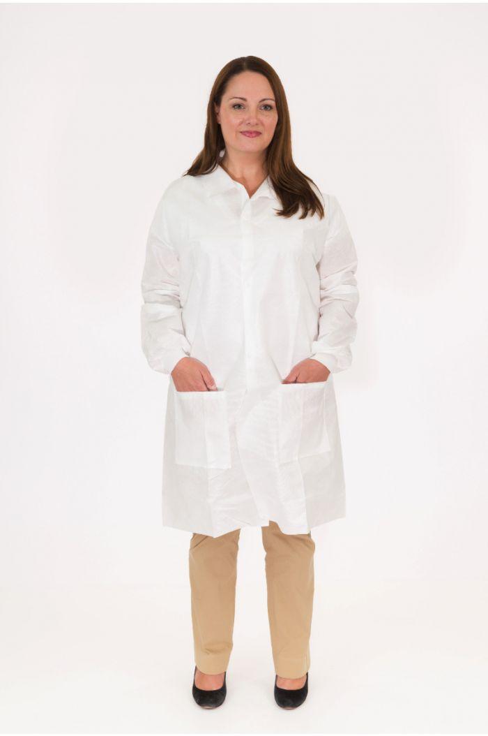 Body Filter 95+®, Lab Coat, Shirt Collar, Two Hip Pockets, Knit Wrist