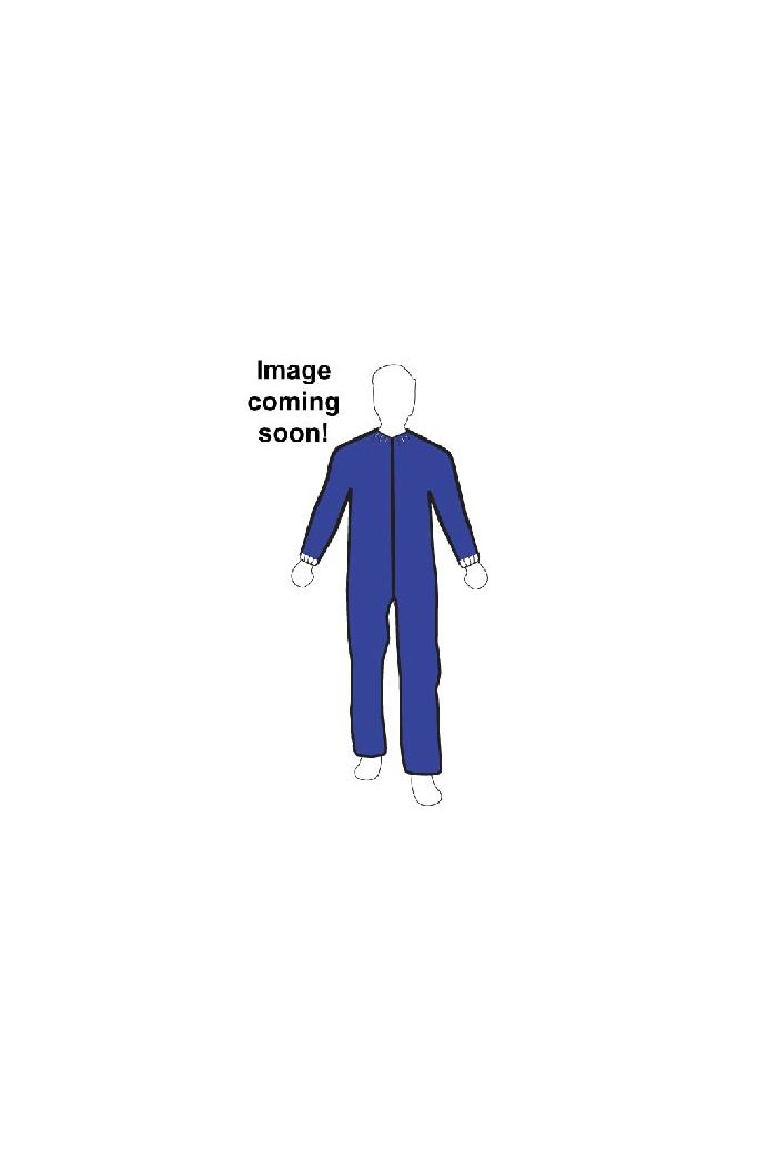 Navy Blue Polypropylene Coverall, Elastic Wrist, Open Ankle